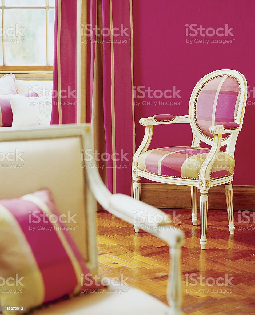 Interior of stylish chairs In Window royalty-free stock photo