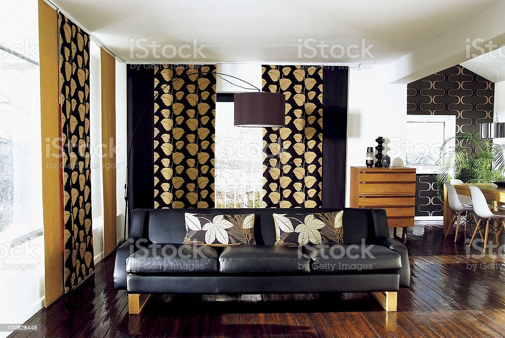 Interior of stylish sofa in a modern livingroom royalty-free stock photo