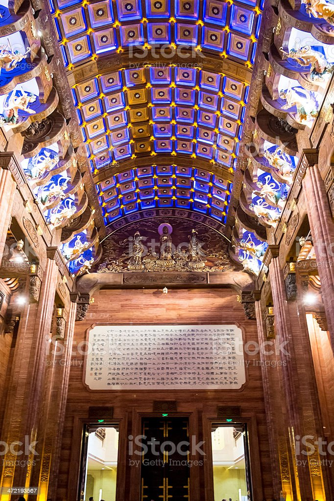 Interior of temple roof royalty-free stock photo