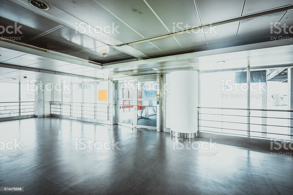 Interior of the airport stock photo