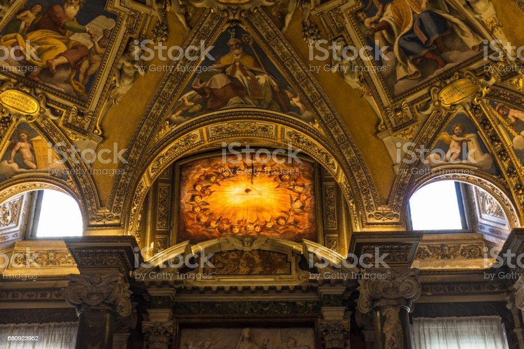 Interior of the Basilica di Santa Maria Maggiore in Rome, Italy. stock photo
