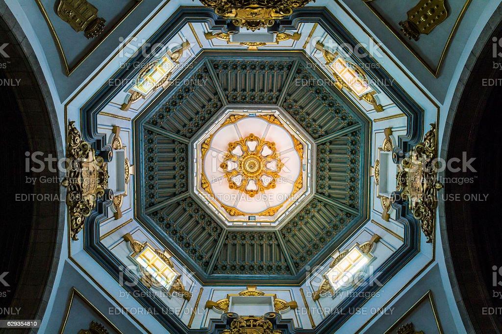 Interior of the Basilica of Nuestra Senora de la Candelaria stock photo