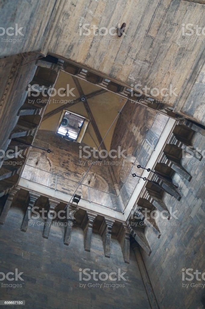 Interior of the bell tower of Giotto, Florence stock photo