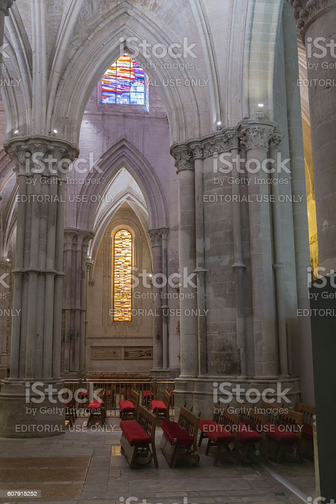 Interior of the Cathedral of Cuenca, Spain stock photo