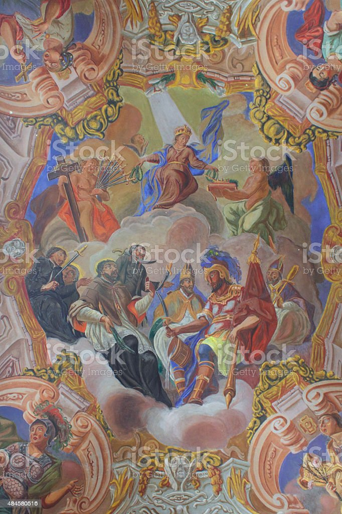Interior of the Church of Saints Peter and Paul XVII stock photo