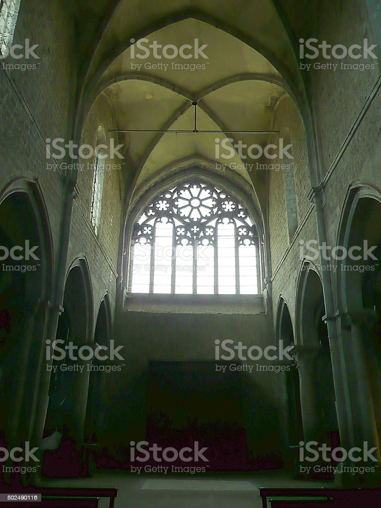Interior of the church of San Martino al Cimino stock photo
