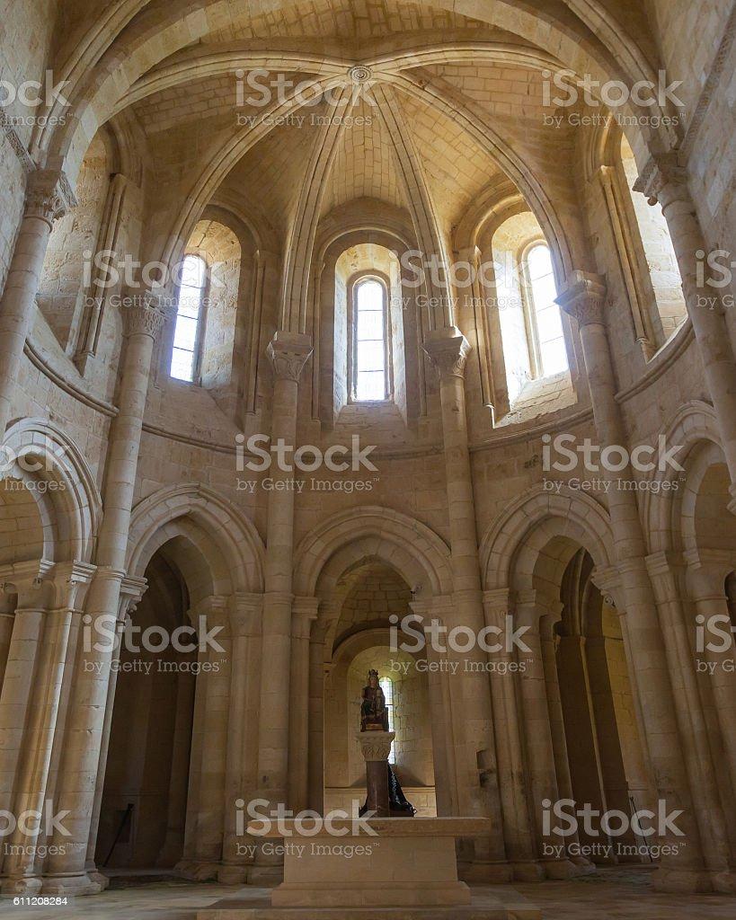 Interior of the Church of the Monastery   Santa Maria Gradefes stock photo