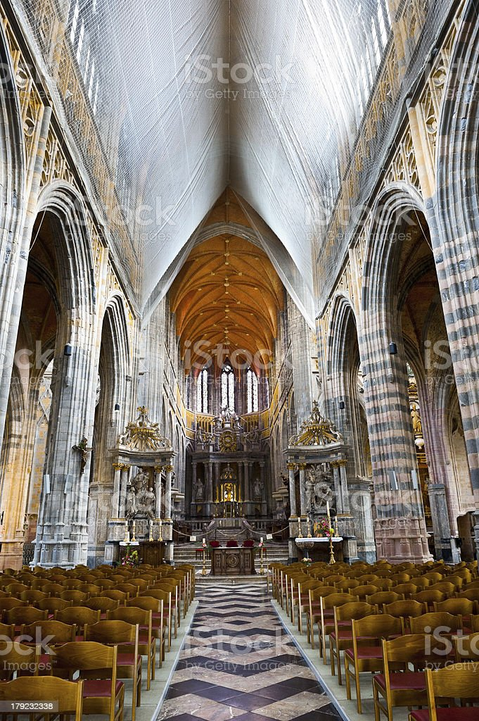 Interior of the Church royalty-free stock photo