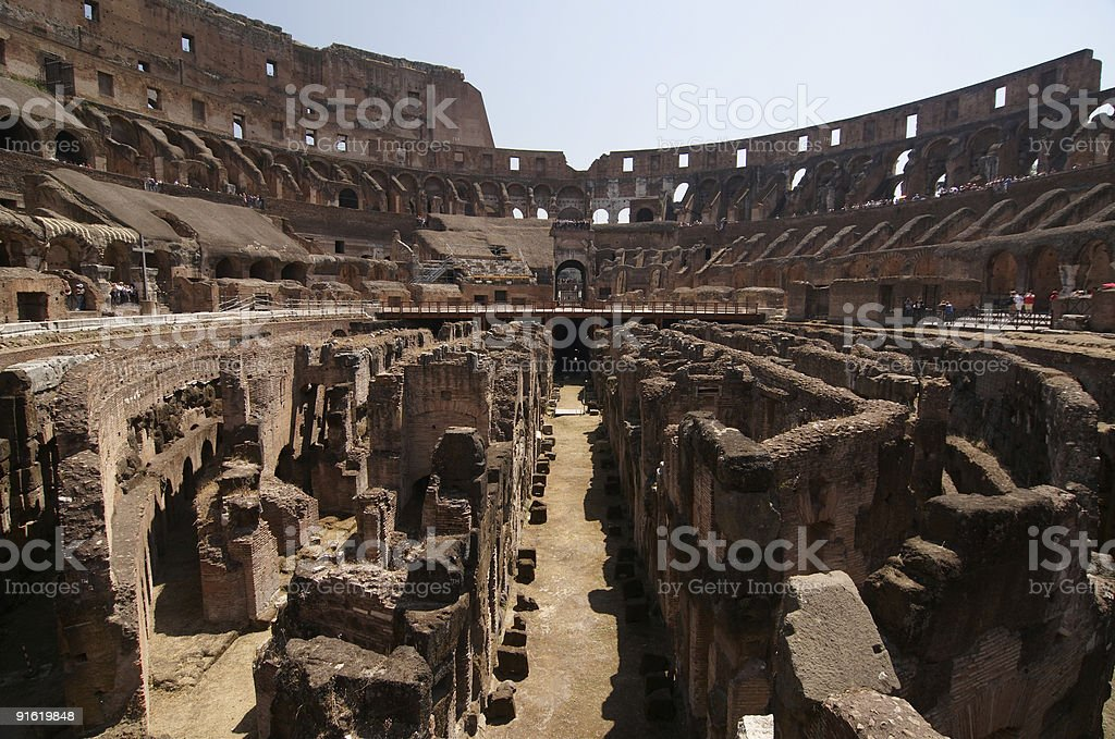 Interior of the Colosseum, Arena royalty-free stock photo