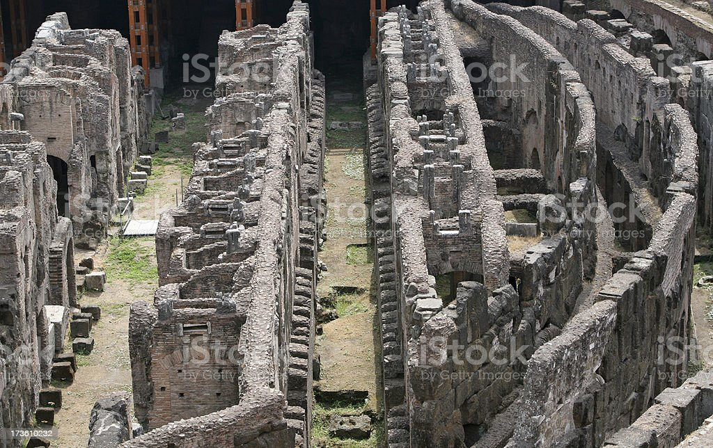 Interior of The Colosseum, Rome royalty-free stock photo