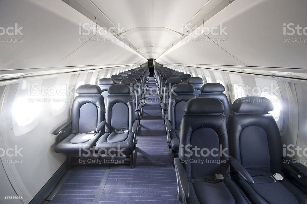 Interior of the Concorde royalty-free stock photo