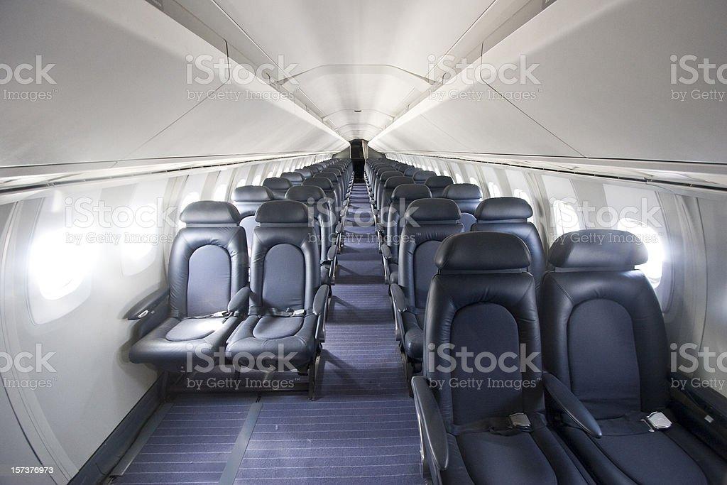 Interior of the Concorde stock photo