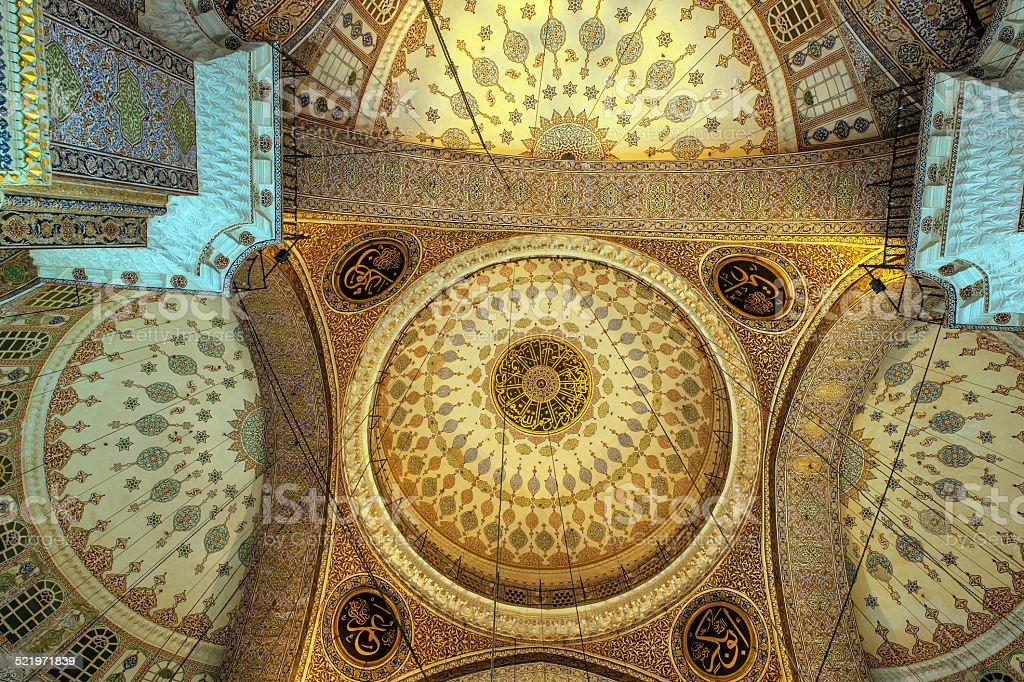 Interior of the Eminonu Mosque (New Mosque) -Istanbul stock photo