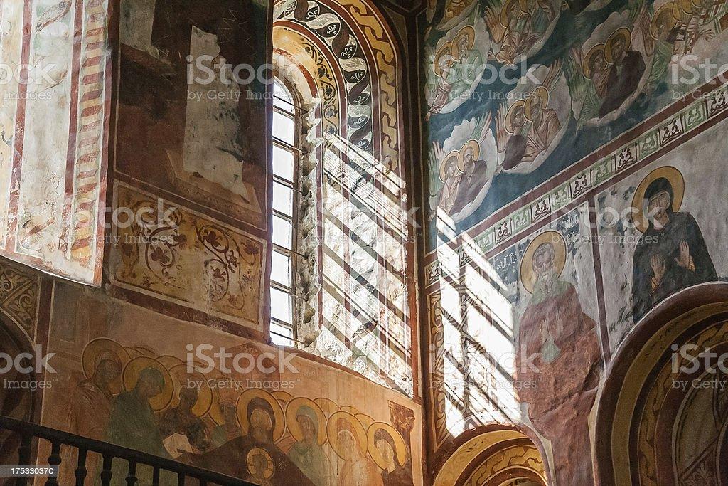 Interior of the Gelati monastery royalty-free stock photo