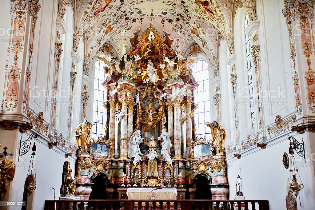 Interior of the germany monastery stock photo