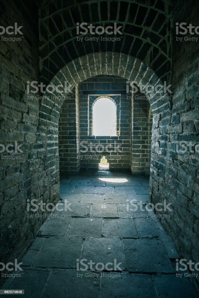 interior of the Great Wall,China,Beijing stock photo