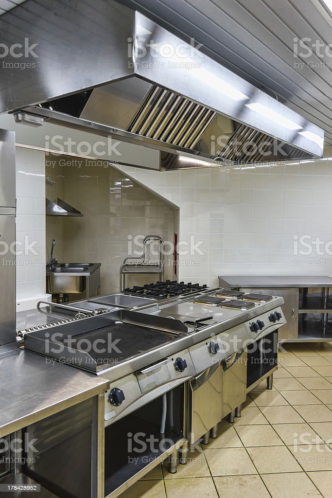 interior of the industrial kitchen royalty-free stock photo