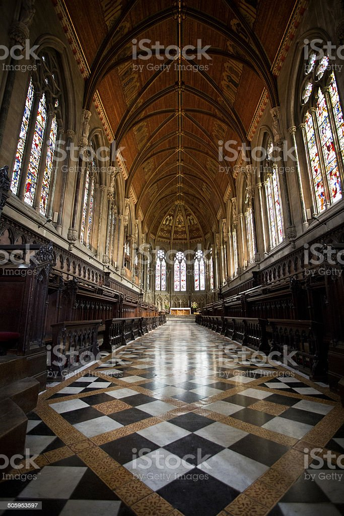 Interior of the King's College Chapel, Cambridge stock photo
