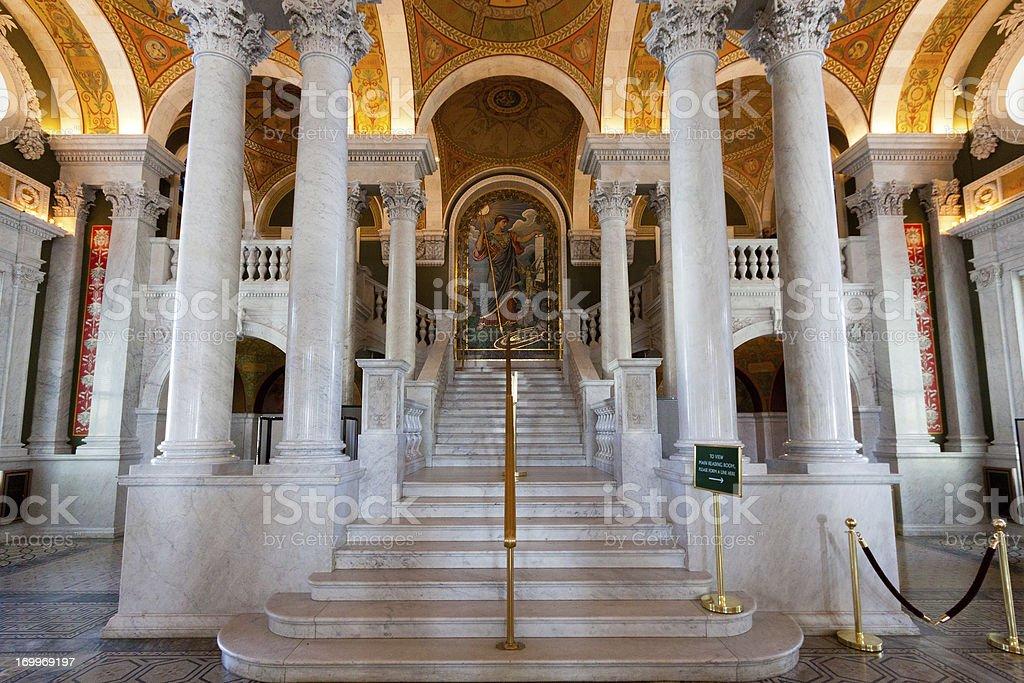 Interior of the Library of Congress, Washington DC royalty-free stock photo