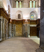 Interior of the Mausoleum of Sultan Qalawun, Old Cairo, Egypt