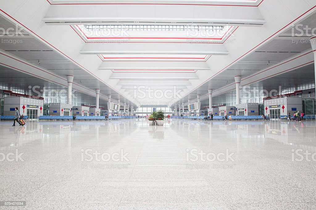 interior of the modern building stock photo