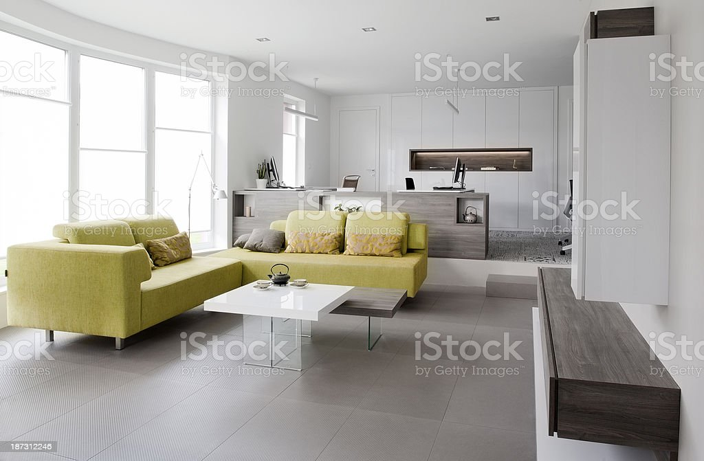 Interior of the modern private office stock photo