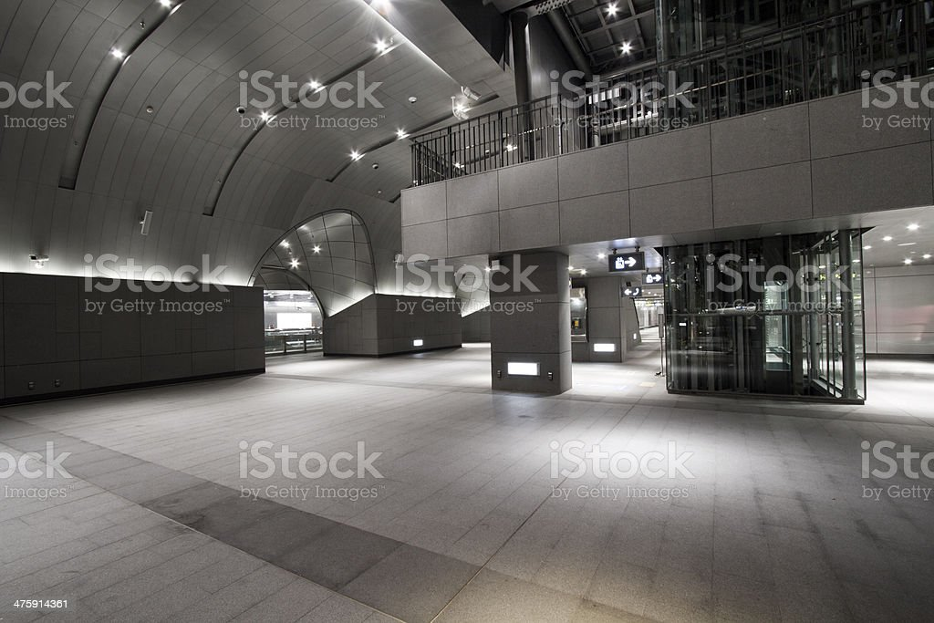interior of the modern station building stock photo