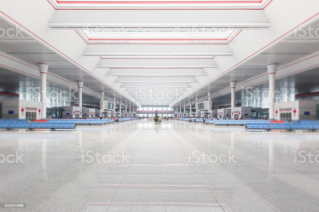 Interior of the modern waiting hall stock photo