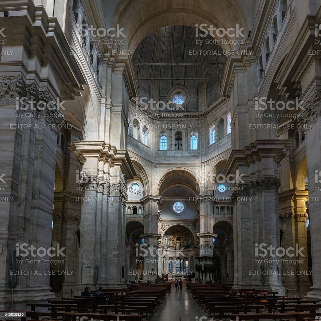 Interior of the Pavia's Cathedral stock photo