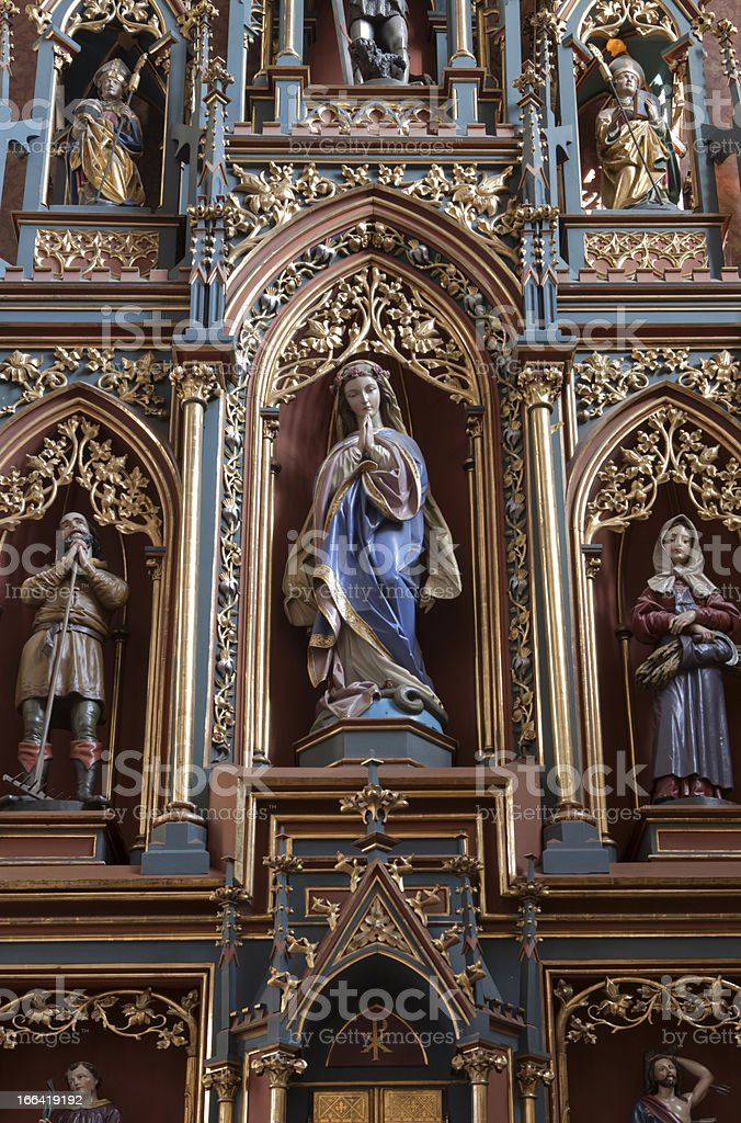 interior of the Pongau Cathedral at St. Johann royalty-free stock photo