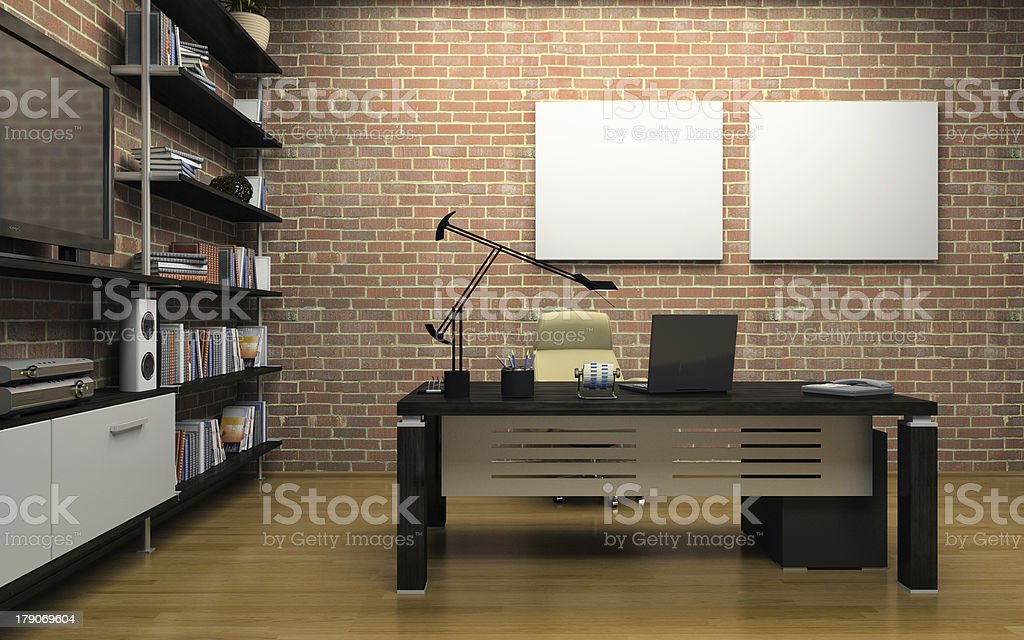 Interior of the private office stock photo