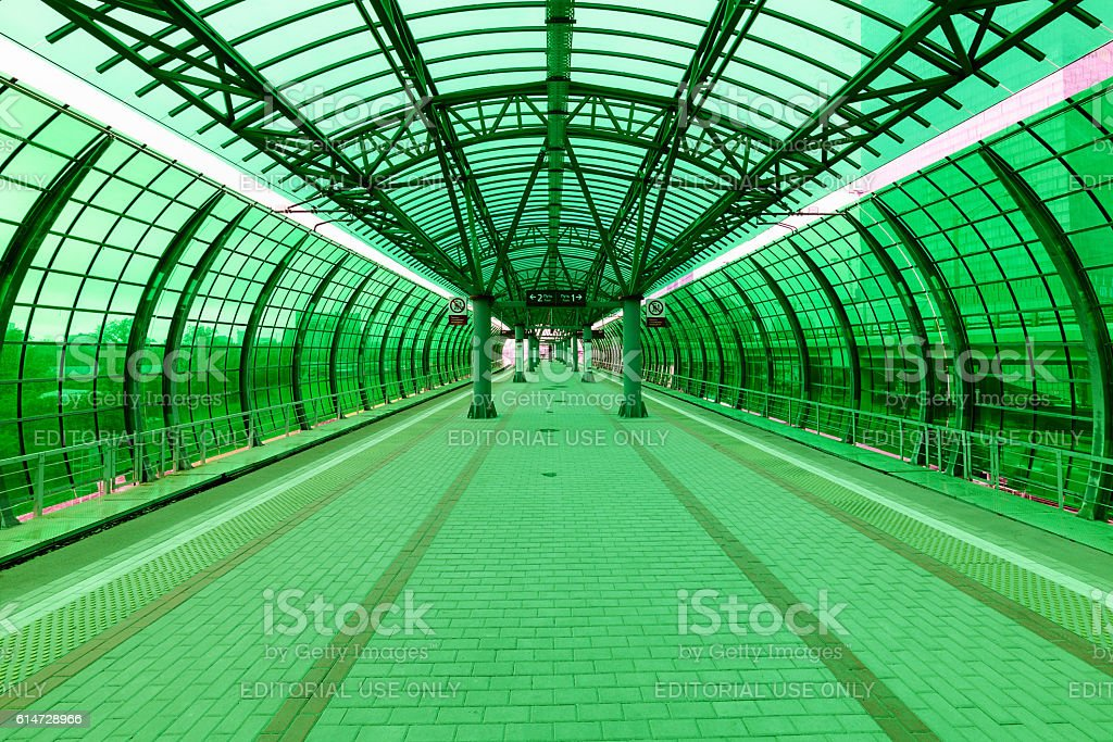 Interior of the station Delovoy center stock photo
