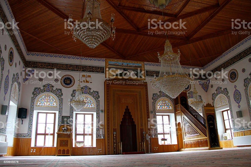 Interior of the Suleyman Pasa Mosque in Goynuk, Bolu stock photo