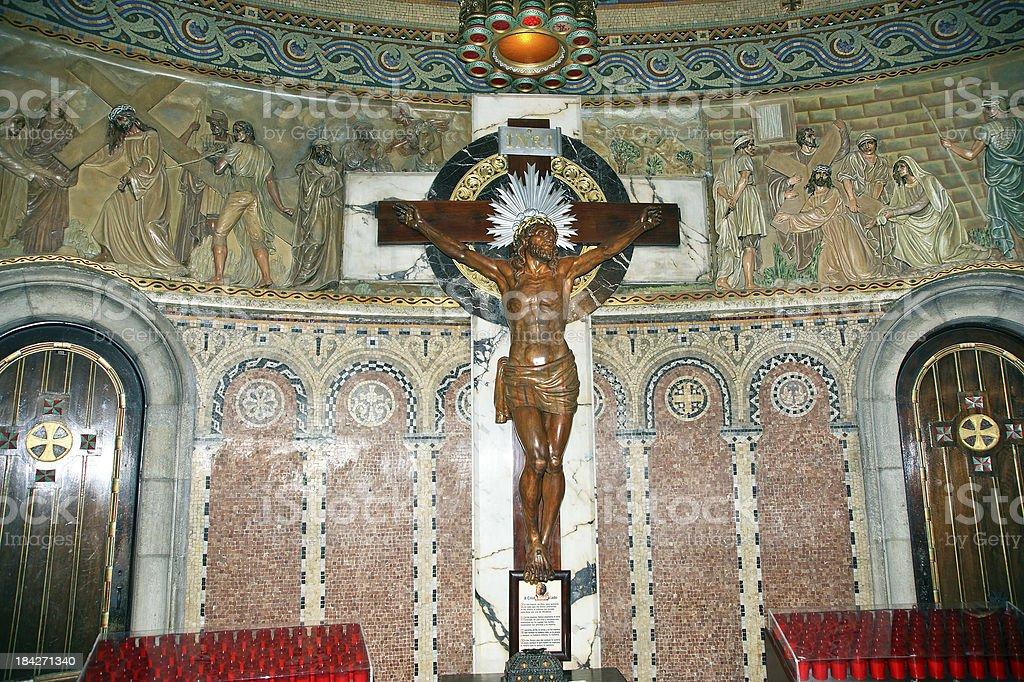 interior of the Tibidabo church/temple stock photo