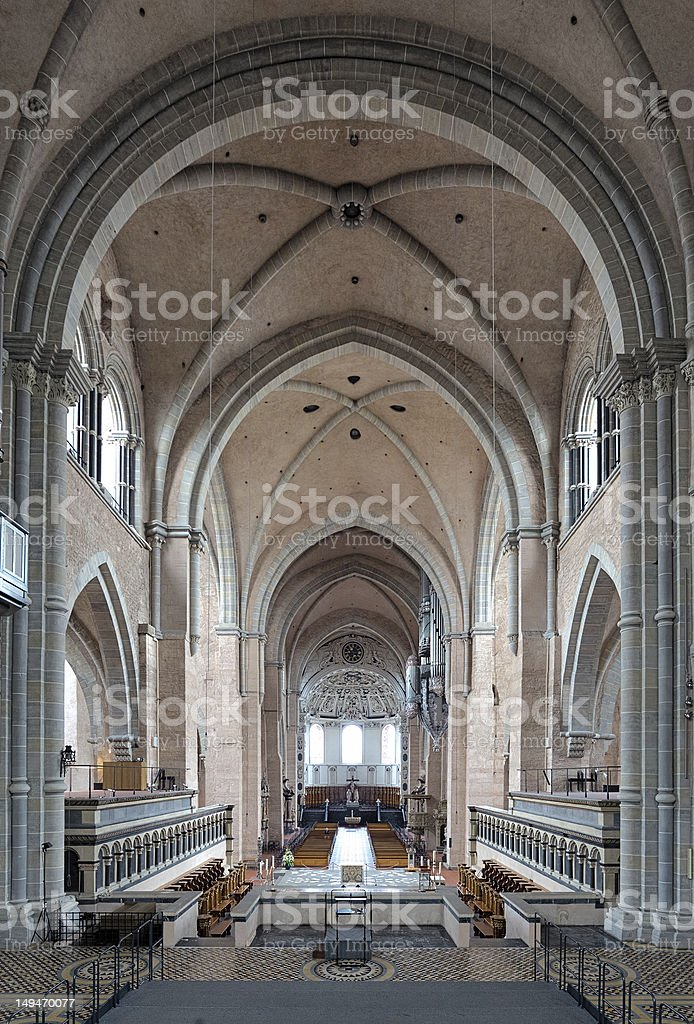 Interior of the Trier Cathedral, Germany royalty-free stock photo
