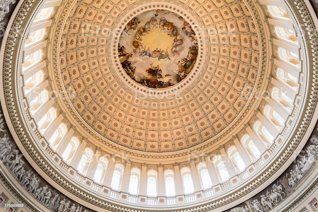 Interior of the United States Capitol Dome royalty-free stock photo