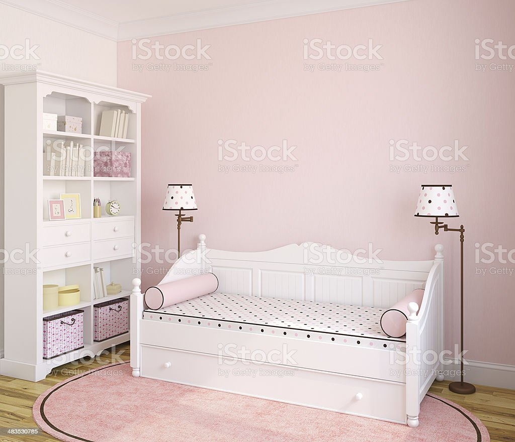 Interior of toddler room. stock photo
