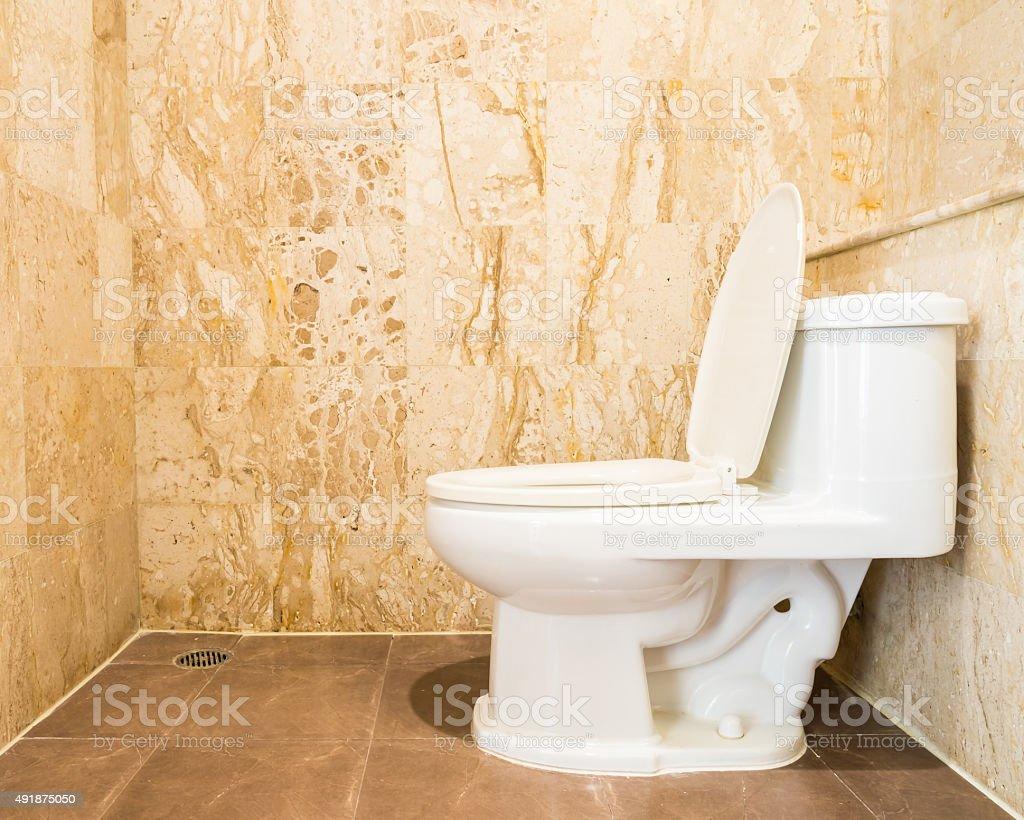 Interior of toilet room stock photo