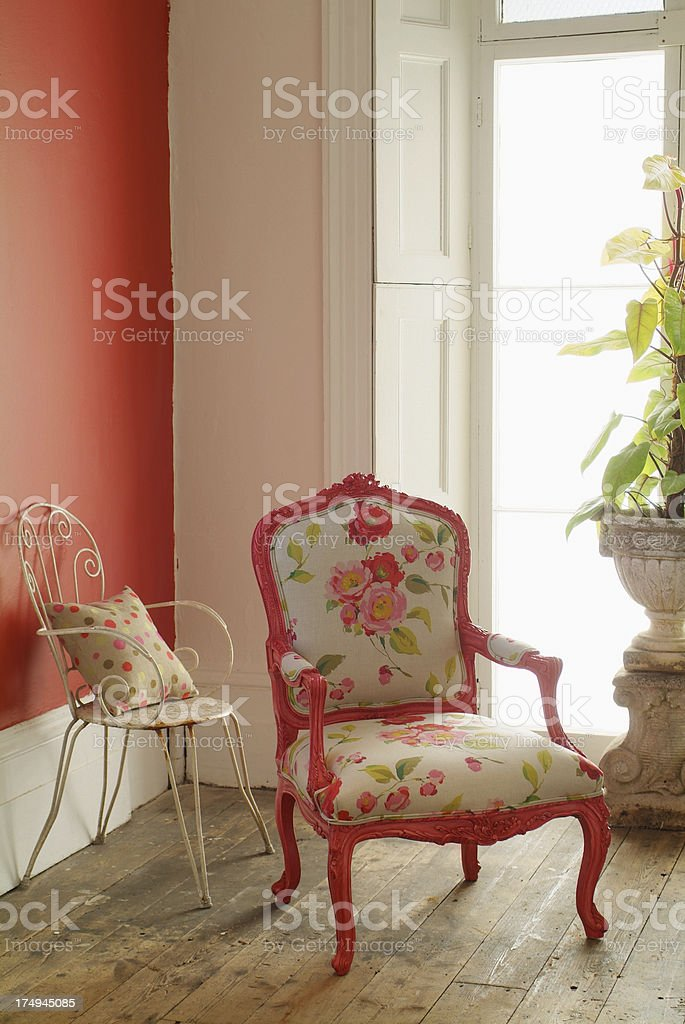 Interior of traditional chairs royalty-free stock photo