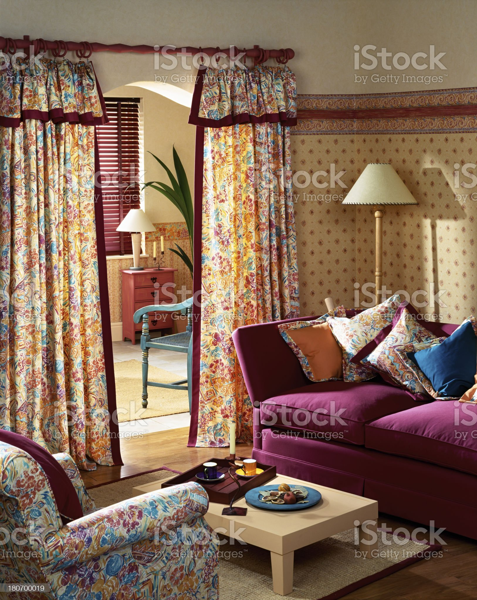 Interior of traditional living room royalty-free stock photo