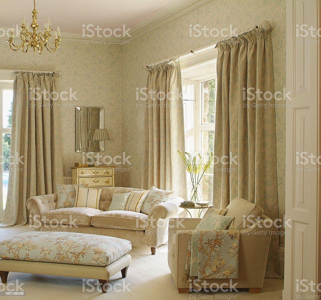 Interior of Traditional Livingroom / lounge stock photo