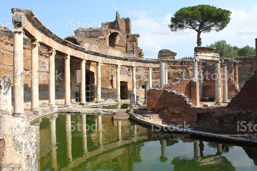 Interior of Villa Adriana near Rome stock photo
