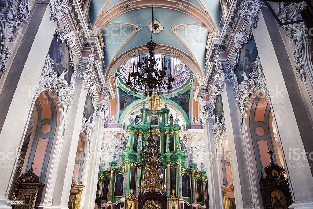 Interior of Vilnius Russian Orthodox Church royalty-free stock photo