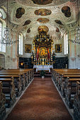 Interior of Wallfahrtskirche Maria Gern, Germany