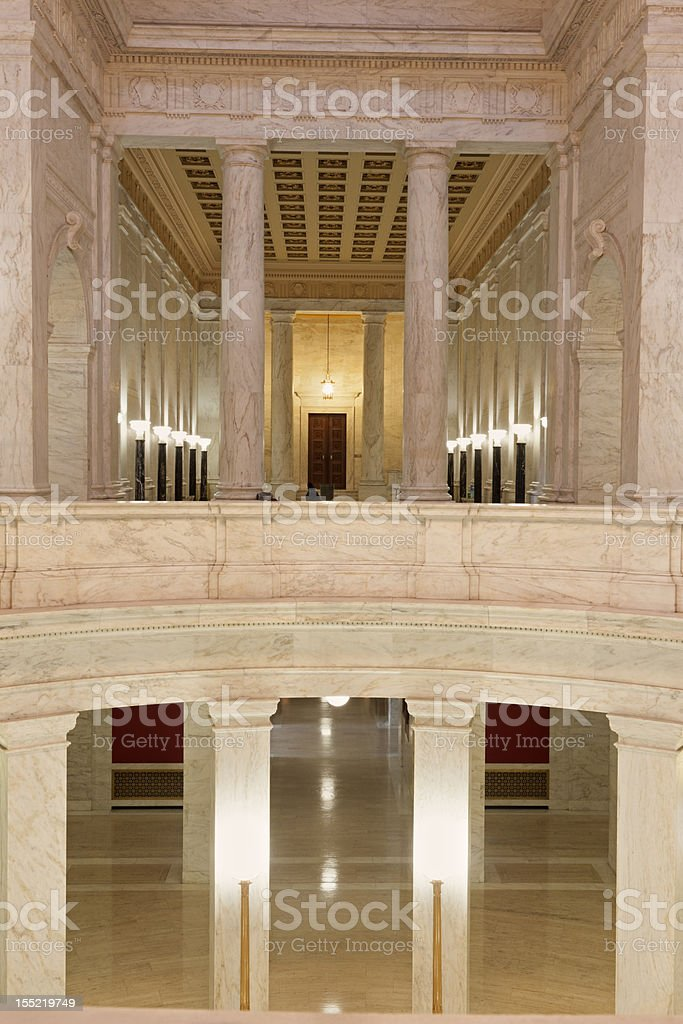 Interior of West Virginia State Capitol Building royalty-free stock photo