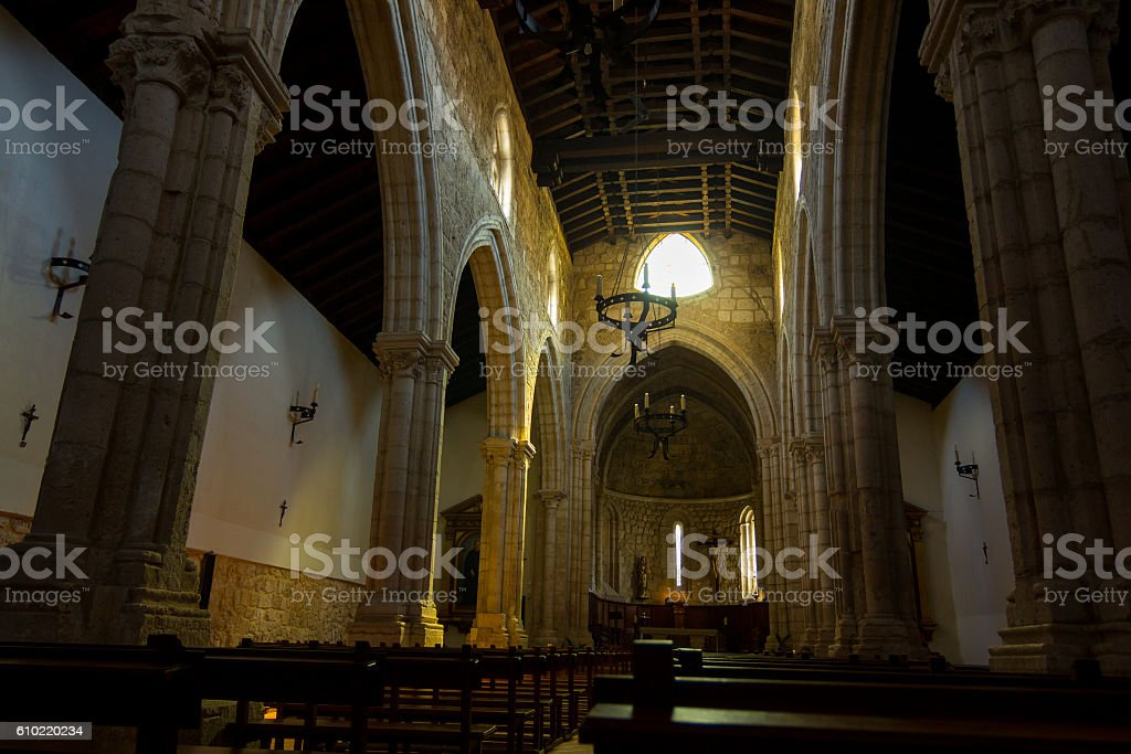 Interior Old Catholic Church stock photo