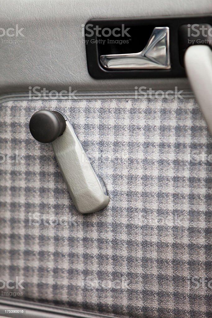Interior panel of car door royalty-free stock photo