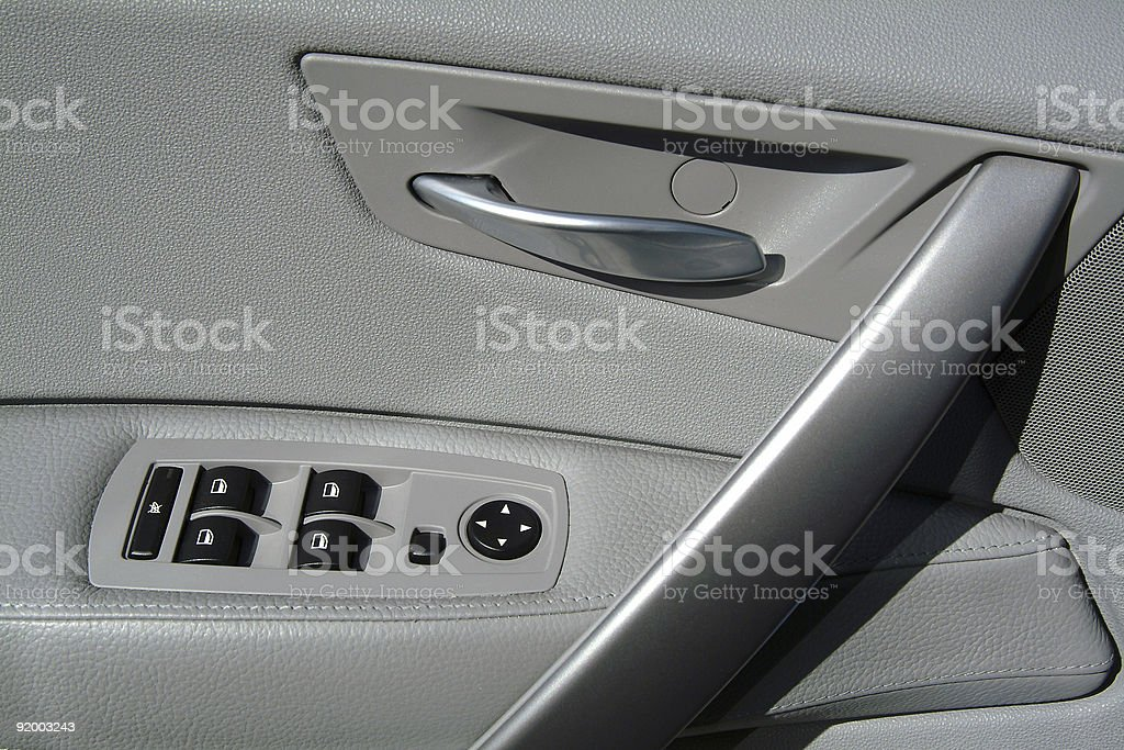 Interior panel of car door royalty-free stock photo