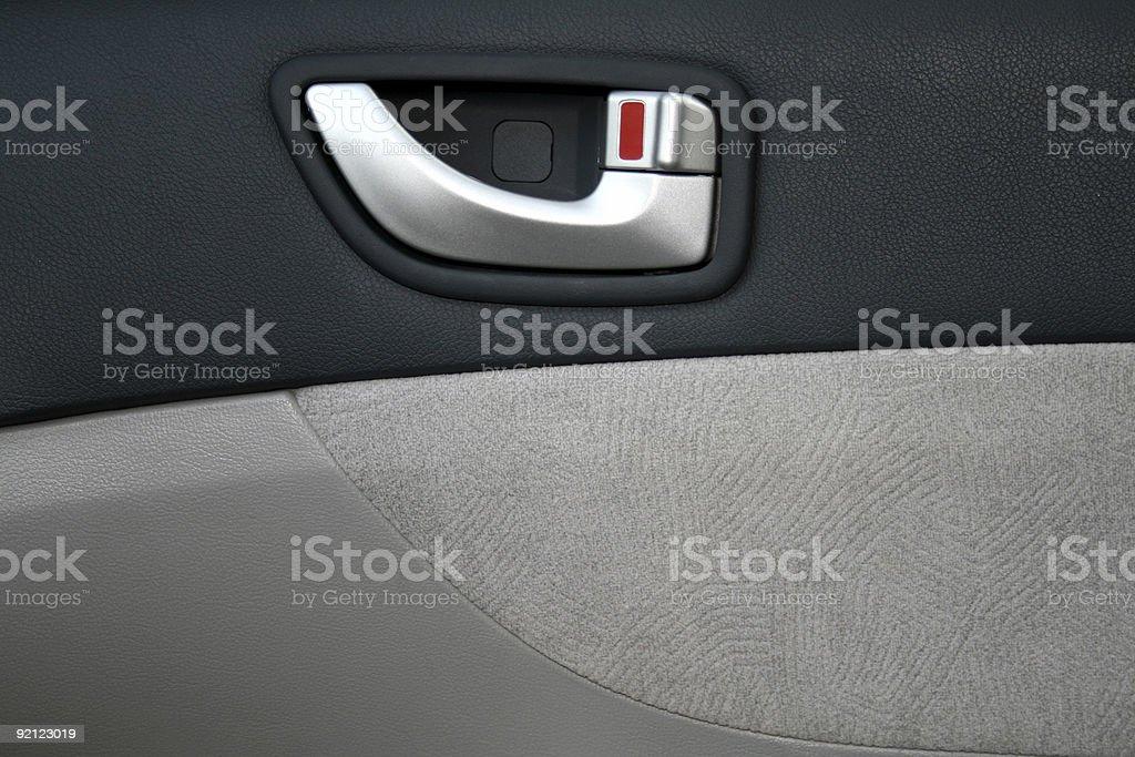 Interior panel of the car door stock photo