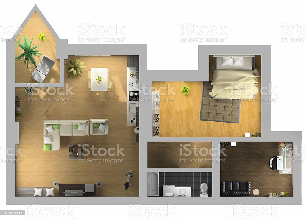 interior plan stock photo